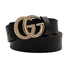 Women GGenuine Leather WIDE Belts Fashion Gucci Logo Pattern For Jeans  26