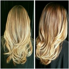 Blonde hair. Beach blonde balayage highlights by Judy Kasai. Subtle ombre.