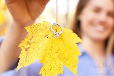Fall engagement shoot - yup have to go find a cool leaf!