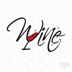 Typography Design, Branding Design, Logo Design, Graphic Design, Creative Advertising, Speisenkarten Designs, Typographic Logo, Flower Logo, Wine Art
