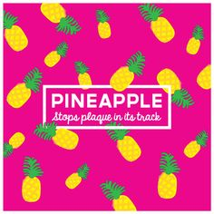PINEAPPLE POWER  The vitamin C and bromelain in pineapple promote #healthy #gums and plaque-free #teeth! It's acidic, so rinse with water after.  Where's the best place in #Fresno to get a pineapple smoothie!