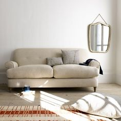 Medium Blinder - Comfy, Contemporary Sofas Online Blinder in wolf brushed cotton - Sofas | The Sleep Room
