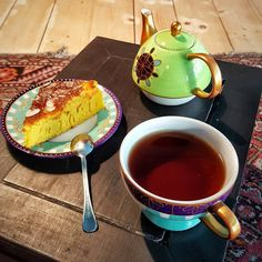 Turmeric, Oranges, Orange Water, Almond Flakes & Wizard's Flame Mate Tea. Perfect combination for a Saturday evening.