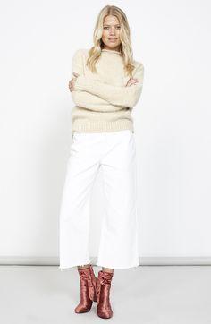 Clean Denim Culottes - White