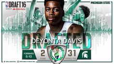 Congrats Deyonta!!  #spartyon #Spartanswill The 31st pick by Boston then traded to Memphis!