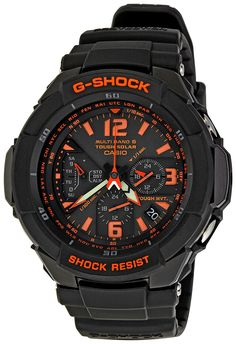 Casio Men's GW3000B-1ACR G-Shock Solar Power Black With Orange Dial Watch >>> You can find out more details at the link of the image. (This is an Amazon Affiliate link and I receive a commission for the sales)