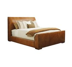 BED, 6/6 (King) from the Henredon Leather Company collection by Henredon Furniture