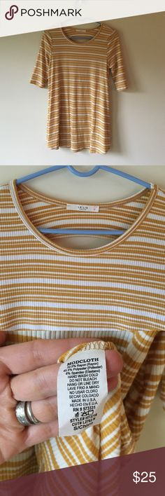 Modcloth striped tunic small 🌞EUC nice stretchy soft knit material!🌞 ModCloth Tops Blouses