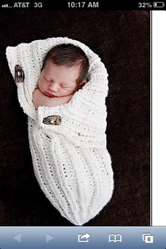Baby cocoon wrap.