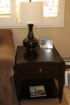 Basset End Table. Lamps Plus Lamp.