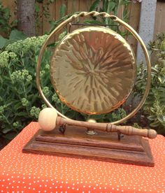 Gong but not forgotten! We love this vintage dinner gong - perfect for summoning the family or for some soothing yoga or meditation.  www.copperjug.co.uk Mirror Table, Vintage, Mirror, Retro, Home Decor, Copper Jug