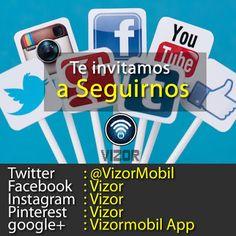 Te invitamos a que seas parte de la familia #Vizor .Síguenos por nuestras redes sociales Twitter:@VizorMobil Instagram: Vizor  Pinterest: Vizor Google+: Vizormobil App #FelizJueves