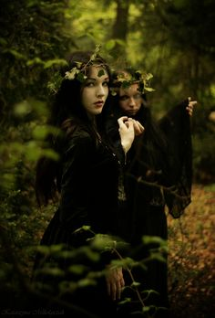 Be careful for the two sisters in the forest my aunt used to say. Even as a kid I never believed her. Now I wish I had. Walking through the forest I saw them. One was so fair it could steal a mans breath from him, while the other was terrifying and creepy all at the same time. I was frozen with fear, shock, or curiosity? I'm not sure. They started to walk towards me and I knew that from here on out my world would be full of pain and hurt. The last thing I saw was the sisters malicious smile.