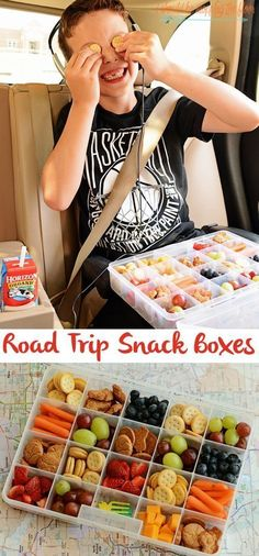 Road Trip Snack Boxes | 17 Easy Campfire Treats Your Kids Will Love #roadtripsnacks