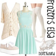 """Frozen's Elsa Disneybound"" by jafigueras on Polyvore"