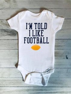 Color Names Baby, Baby Names, Fall Maternity, Maternity Fashion, Football Baby Shower, Welcome To The Future, Custom Made Gift, Sports Baby, Humor