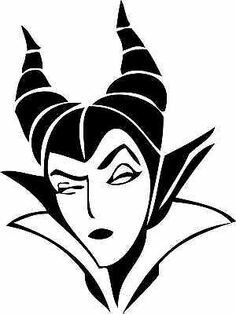 Maleficent silhouette - could be used as a pumpkin carving stencil