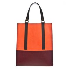 Totes don't get much classier than this — that burgundy and tangerine colour clash is blowing our minds. What a beauty...