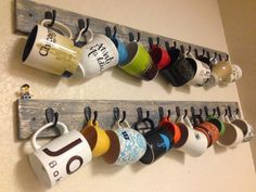 Check out the tutorial for this easy DIY wooden mug holder rack @istandarddesign