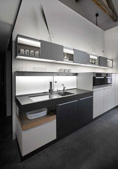 Una cucina a due piani in fienile ristrutturato | Ville&Casali
