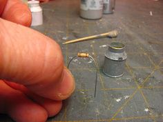 Dollhouse Miniature Furniture - Tutorials | 1 inch minis: 1 INCH SCALE CREAM CAN - How to make a 1 inch scale cream can from card stock.