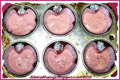 Heart shape cup cakes! Good idea! Always wondered how to do this.