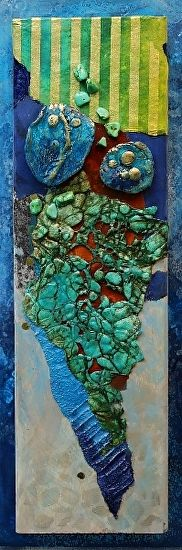 Reef,  051417 by Carol Nelson mixed media ~ 13.5 inches x 4.5 inches