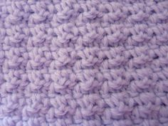This is a simple double and single crochet moss stitch, where you do a row of single, double, single, double, repeated to end on a double an...