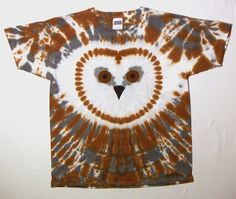 Barn Owl Tie Dye Shirt Youth Extra Large by tiedyedmonkeys on Etsy, $24.99 I WANT THIS ON A ONESIE.