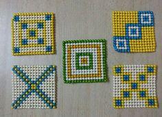 Bead Jewellery, Beaded Jewelry, Art N Craft, Henna Designs, Bead Crafts, Folk Art, Bag Accessories, Kids Rugs, Beads