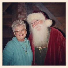 Great photo of C-Ville's Patsy Stewart and Santa! (Photo by stewartbuzz)