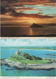 2 Unused Postcards of St. Michaels Mount, Cornwall, Great Britain, c1980s, good shape by VintageNEJunk on Etsy