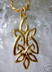 Gold Plated Celtic Knot of Infinity pendant charm wicca Sterling Silver 925 Jewelry