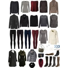 """""""fall/winter capsule (project 333)"""" by alkichic on Polyvore"""