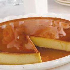 Simpele romige crème caramel