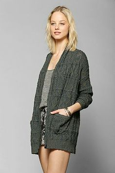 Left On Houston Textured Stripe Cardigan