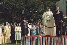 President Carter and Prince Fahd bin Abd al-Aziz Al-Saud 1921-2005 Crown Prince of Saudi Arabia during a welcoming ceremony at the White House. Saudi Arabia was a leading member of OPEC the international cartel of oil producing states that raised oil prices during Carter's presidency. May 24 1977.