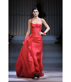 The influx of people from the east has always inspir. Armani Gowns, Red Gowns, Glamour, Beautiful Gowns, Timeless Fashion, Lady In Red, Strapless Dress Formal, Nice Dresses, Style Me