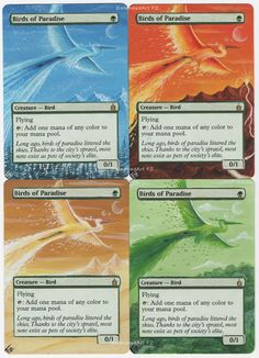 Bird of Paradise by FZ, Magic: The Gathering, Altered Art