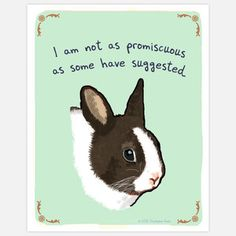 I am not as promiscuous as some have suggested.