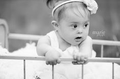Did you know 90% of women, who find out they are pregnant with a child that has Down Syndrome, choose to abort? This little girl is BEAUTIFUL. Promote Down Syndrome Awareness!