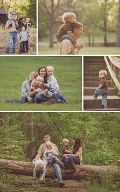 family with three boys in outdoor rustic park