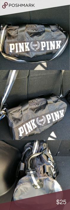 New Black PINK Gym Bag Duffle Bag This is a New Black Pink Gym Bag Duffle Bag. It's new bag gf got it by vs member perk points. It's new it's great for travel or throw in some cloth for gym fits nice. Take this deal it's yours :). Victoria's Secret Bags Crossbody Bags
