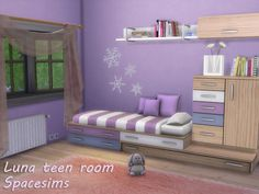 Luna teen room by spacesims at TSR via Sims 4 Updates