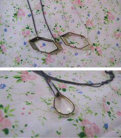 beautiful geometric necklaces by Skermunkil