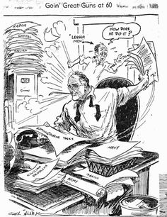 'Franklin D. Roosevelt at by Cal Alley of the Kansas City Journal City Journal, Franklin Delano, Poster Pictures, Political Cartoons, Satire, Kansas City, Ephemera, Politics