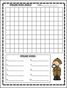 Spelling Practice Activities -- something like this for battleship