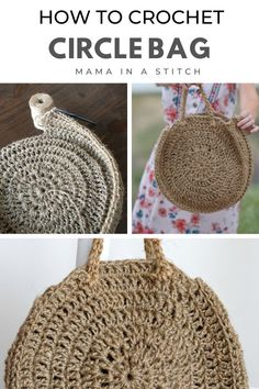 This pretty bag is so easy to make and I love that it's made with jute! It has a natural, modern look to it and is super practical. There's a tutorial and free crochet pattern to help you along! Tote Pattern, Purse Patterns, Crochet Patterns, Sewing Patterns, Cute Crochet, Crochet Hooks, Knit Crochet, Easy Crochet, Crochet Purses