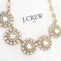 J. Crew necklace J. Crew statement necklace. From J. Crew Factory. Includes dustbag. Brand new with tag. No trades. No PayPal. J. Crew Jewelry Necklaces