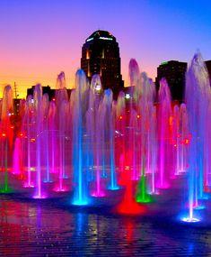 Fuente de colores